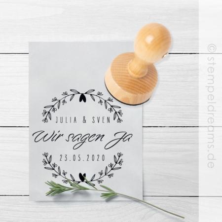 Hochzeitsstempel - Wir sagen Ja - Stempekdreams.de